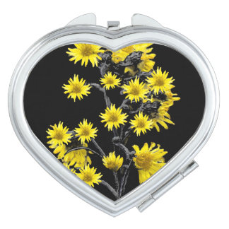 Sunflowers over Black Vanity Mirror