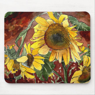 sunflowers painting art gifts mouse pad