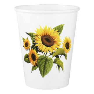 Sunflowers Paper Cup