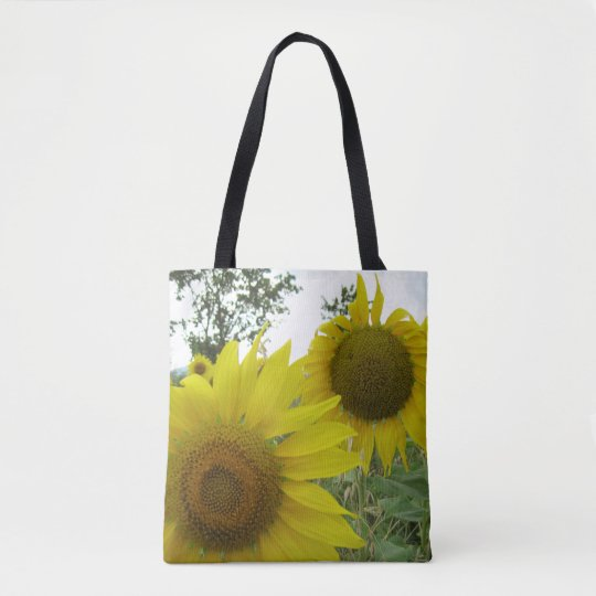 Sunflowers Photo Custom All-Over-Print Tote Bag