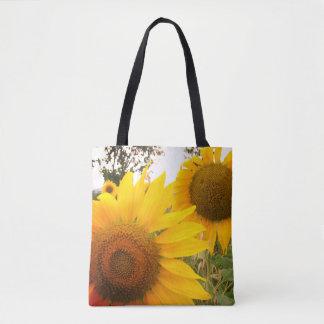 Sunflowers Photo Custom All-Over-Print Tote Bag