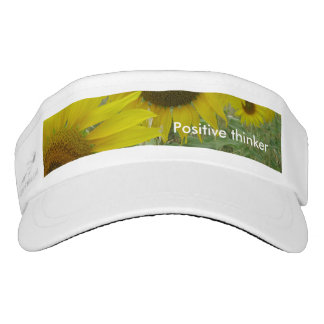 Sunflowers Photo Custom Knit Visor, White Visor