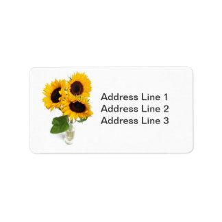 Sunflowers Photo Label