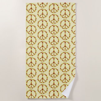 Sunflowers Photos Peace Sign Design Beach Towels