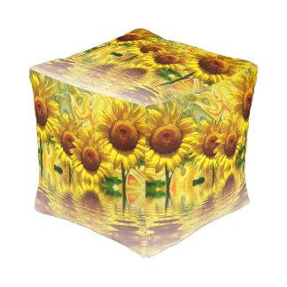 Sunflowers Pouf