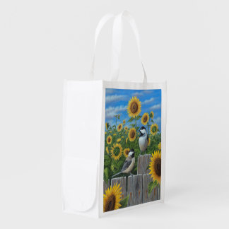 Sunflowers Reusable Grocery Bag