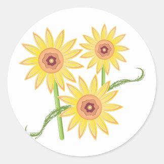 Sunflowers Round Sticker