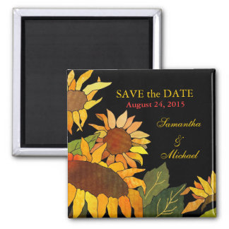 Sunflowers: Save the Date Wedding Magnets