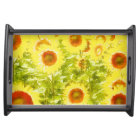 sunflowers serving tray