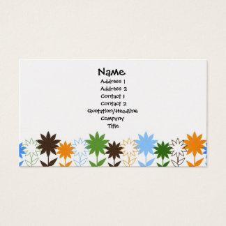 Sunflowers shadows - Customized Business Card