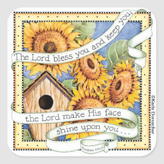 Sunflowers - Square Stickers