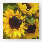 Sunflowers Square Wall Clock
