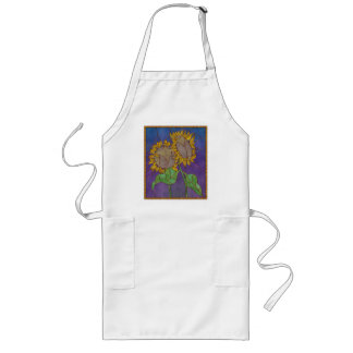 Sunflowers Stained Glass Look Apron