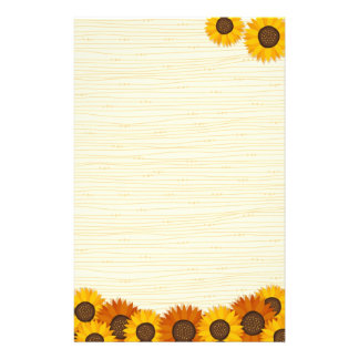 Sunflowers stationery