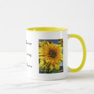 Sunflowers that smile mug