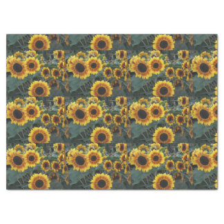 sunflowers tissue paper