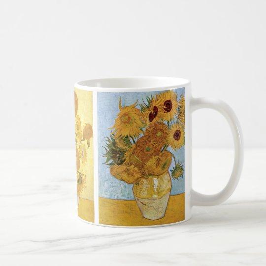 Sunflowers Triptych by Vincent van Gogh Coffee Mug