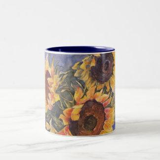 Sunflowers Two-Tone Coffee Mug
