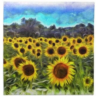Sunflowers Van Goth Napkin
