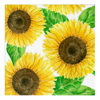 Sunflowers watercolor acrylic print