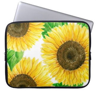 Sunflowers watercolor laptop sleeve