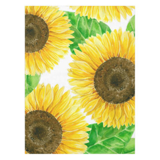 Sunflowers watercolor tablecloth
