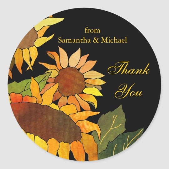 Sunflowers: Wedding Thank You Sticker