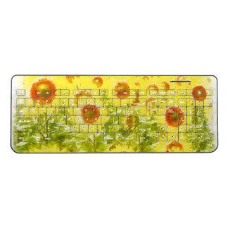Sunflowers Wireless Keyboard