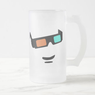 Sunglass 16 Oz Frosted Glass Beer Mug
