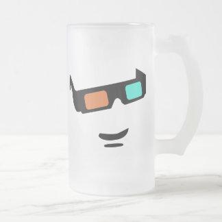 Sunglass 16 Oz Frosted Glass Beer Mug