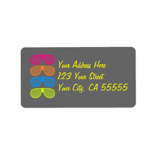 Sunglass Address Labels