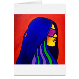 Sunglass Woman by Piliero Greeting Card