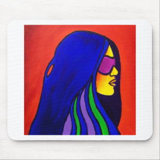 Sunglass Woman by Piliero Mouse Pad