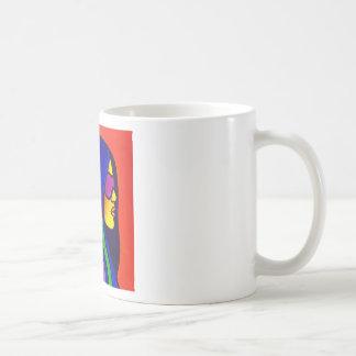 Sunglass Woman by Piliero Basic White Mug
