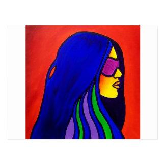 Sunglass Woman by Piliero Postcard