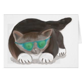 Sunglasses and Kitty Greeting Card
