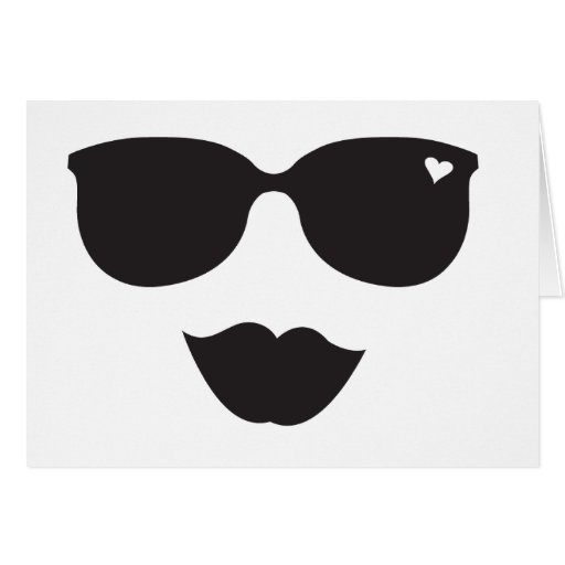 Sunglasses and Lips Face Cards