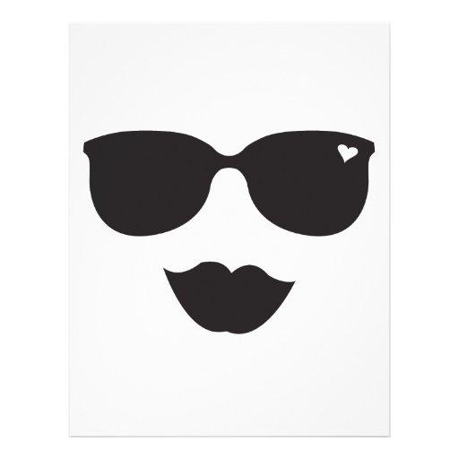 Sunglasses and Lips Face Custom Letterhead