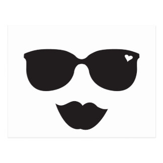 Sunglasses and Lips Face Postcards