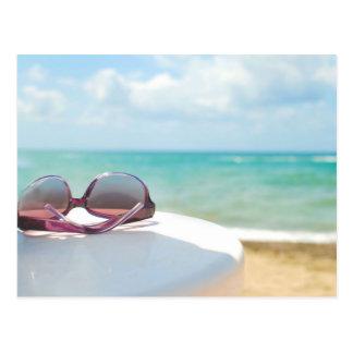 Sunglasses At Beach Postcard