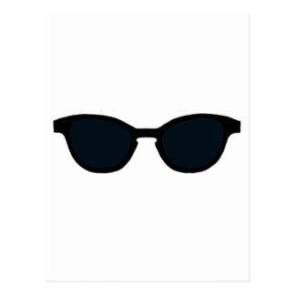 Sunglasses Black Rim Black Lens The MUSEUM Zazzle Postcard