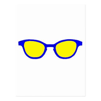 Sunglasses Blue Rim Yellow Lens The MUSEUM Zazzle Postcard