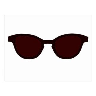 Sunglasses Brown Rim Brown Lens The MUSEUM Zazzle Postcard