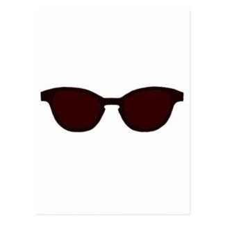 Sunglasses Brown Rim Brown Lens The MUSEUM Zazzle Post Card