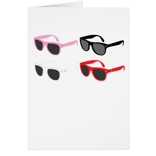 Sunglasses Greeting Cards