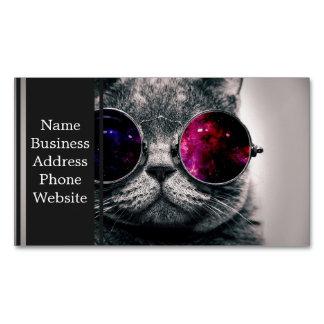 sunglasses cat business card magnet