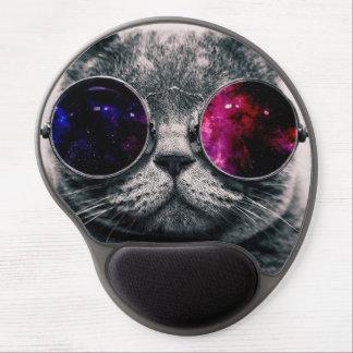 sunglasses cat gel mouse pad