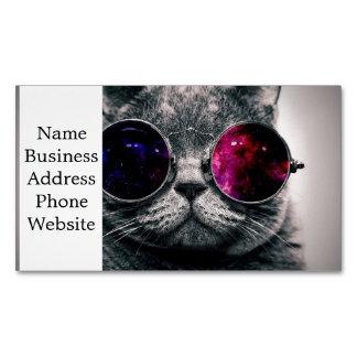 sunglasses cat magnetic business card