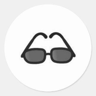 Sunglasses Classic Round Sticker