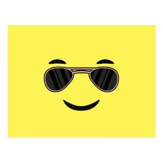 Sunglasses Emoji Postcard
